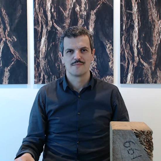 Samuele Giacometti docente del corso case in legno