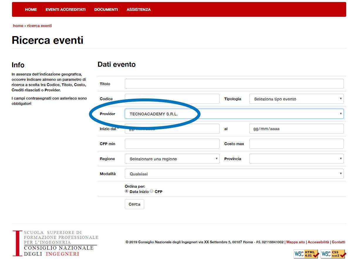 provider per crediti formativi